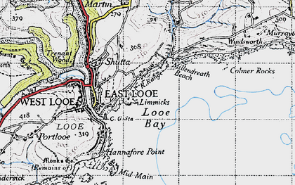 Old map of Limmicks in 1946