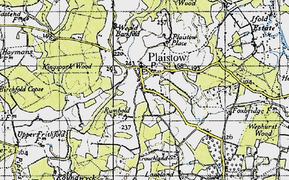 Old map of Plaistow in 1940