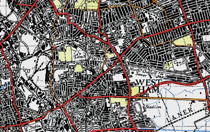 Old map of Plaistow in 1946