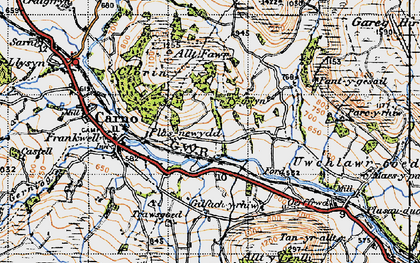 Old map of Wgi-fawr in 1947