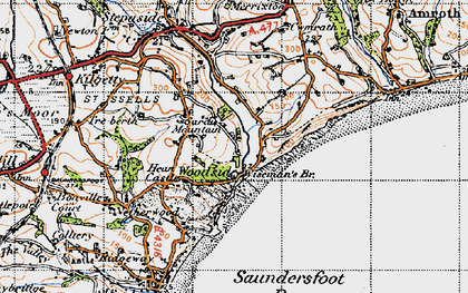 Old map of Wiseman's Br in 1946