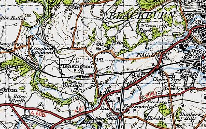 Old map of Pleasington in 1947