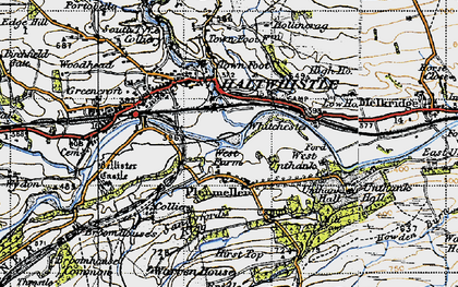 Old map of West Unthank in 1947