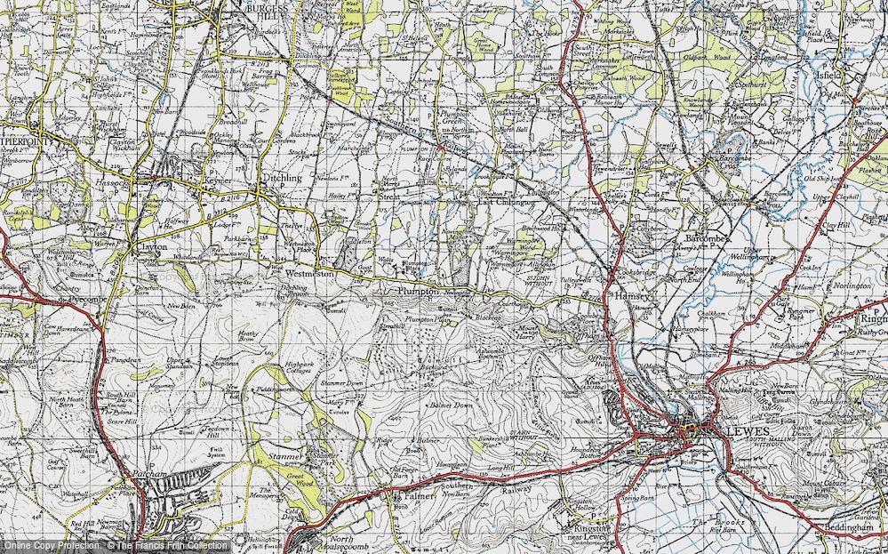 Old Map of Plumpton, 1940 in 1940