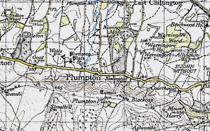 Old map of Plumpton in 1940