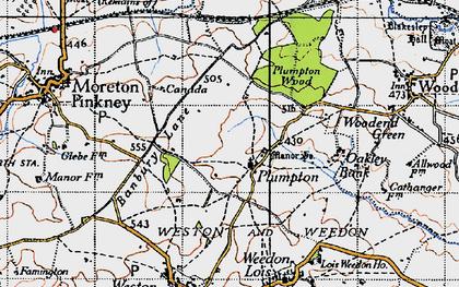Old map of Badbury Lane in 1946