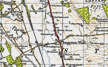 Old map of Lazonby Fell in 1947
