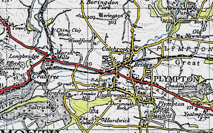 Old map of Plympton in 1946