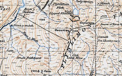Old map of Banc Llechwedd-mawr in 1947