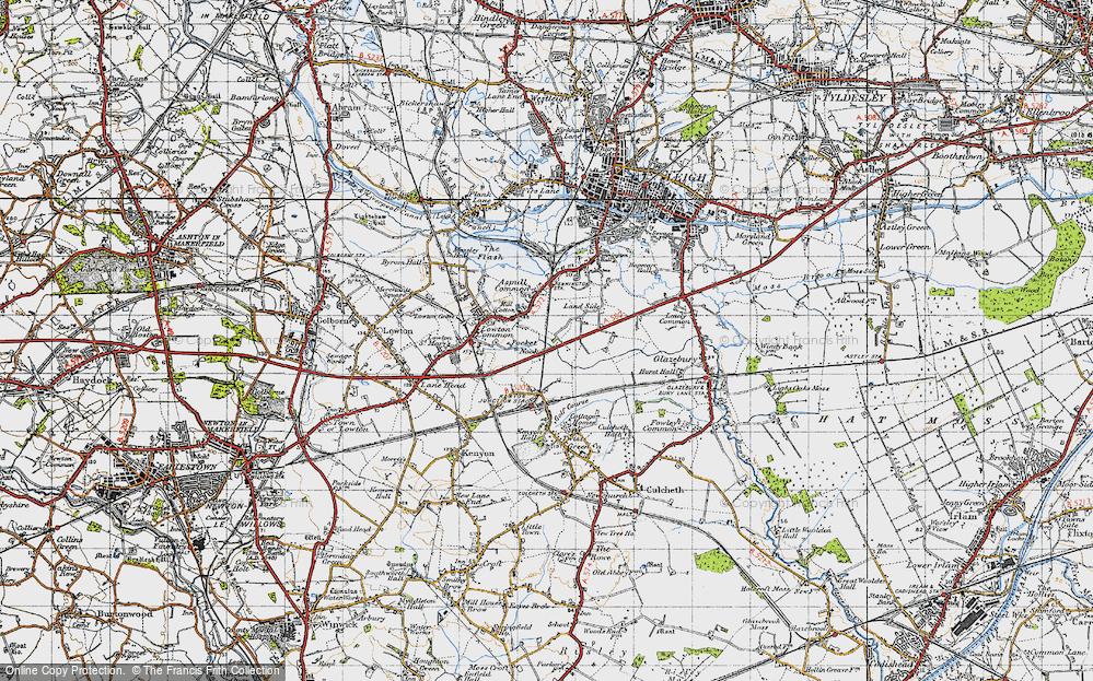 Old Map of Pocket Nook, 1947 in 1947
