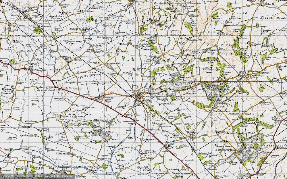 Map of Pocklington, 1947 - Francis Frith