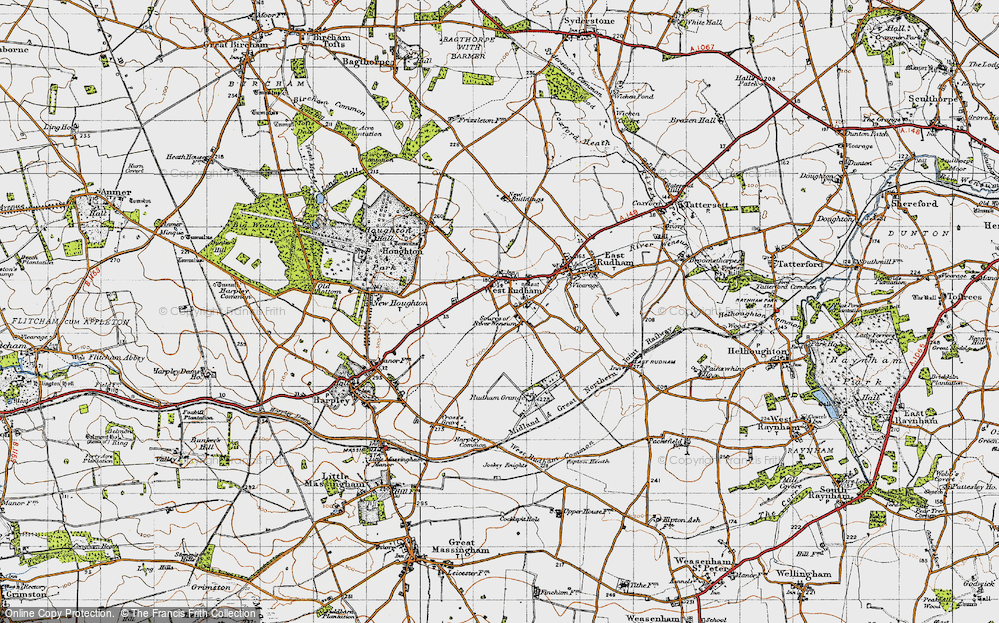 Old Map of Pockthorpe, 1946 in 1946