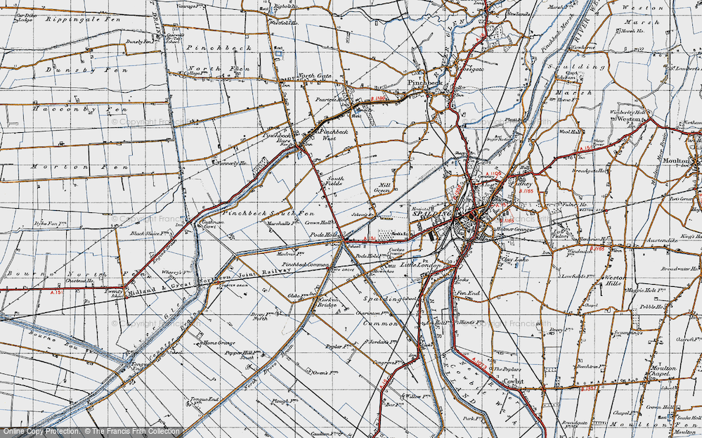 Old Map of Historic Map covering Lindum Ho in 1946