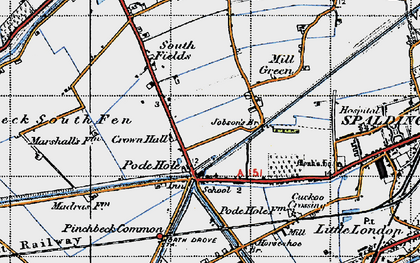 Old map of Lindum Ho in 1946
