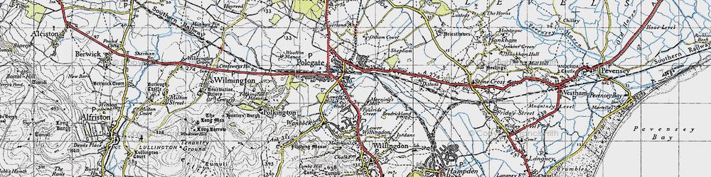 Old map of Polegate in 1940