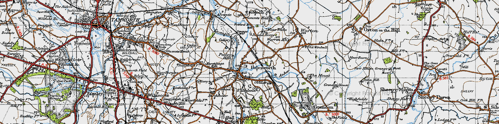 Old map of Polesworth in 1946