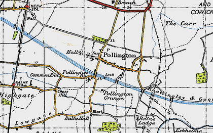 Old map of Balne Hall in 1947