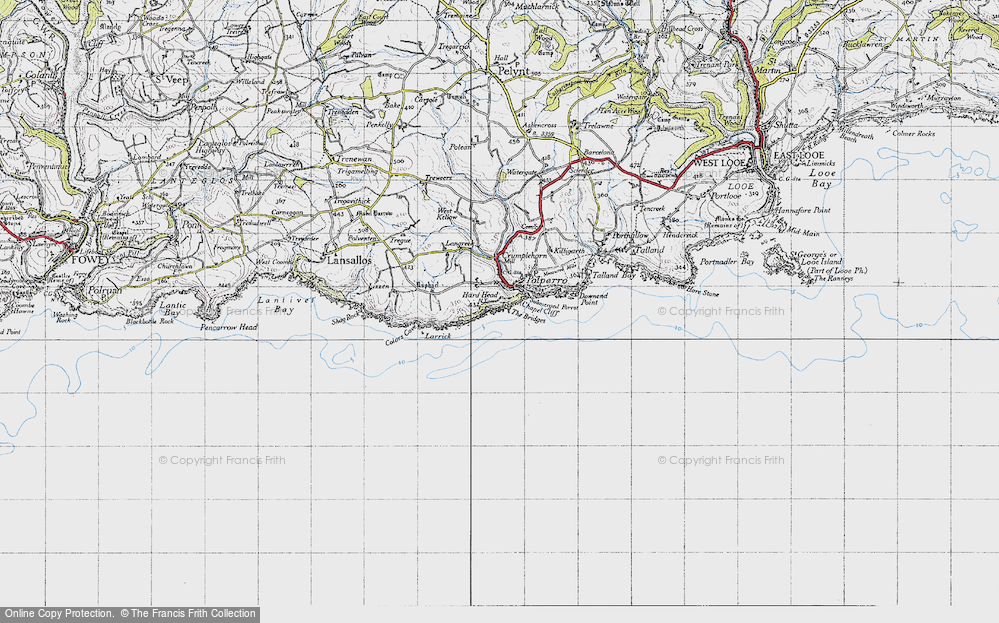 Old Map of Historic Map covering Larrick in 1946