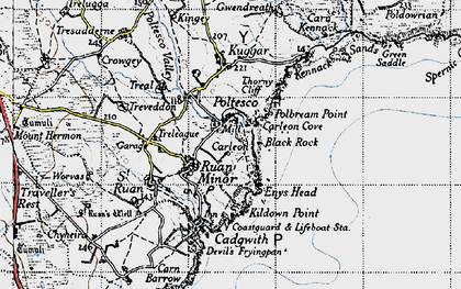 Old map of Poltesco in 1946