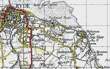 Old map of Woodlands Vale in 1945