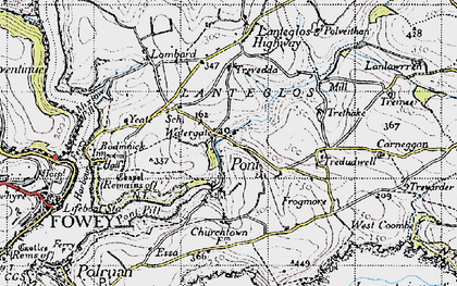 Old map of Pont in 1946