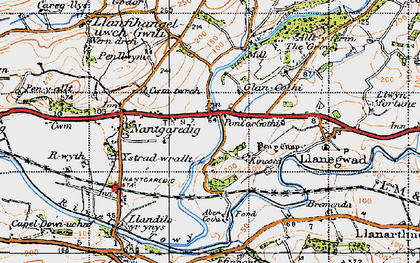 Old map of Abercothi Ho in 1946