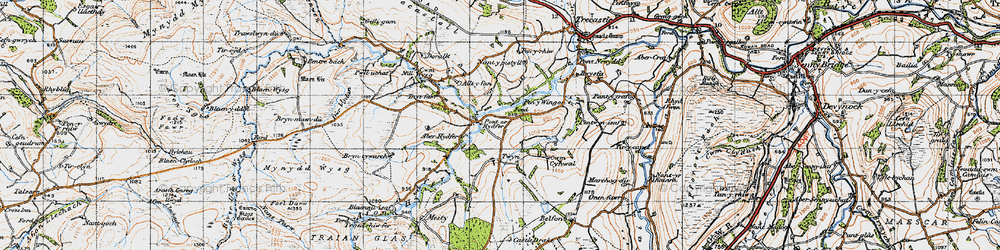 Old map of Tircapel in 1947