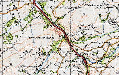 Old map of Afon Swadde in 1947