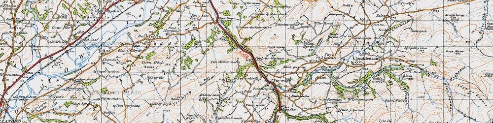 Old map of Afon Swadde in 1947