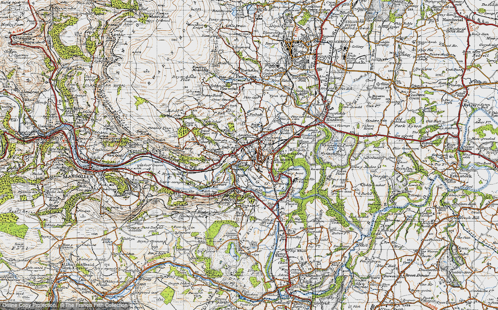 Old Map of Pont Cysyllte, 1947 in 1947