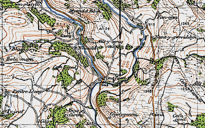 Old map of Alltycerrig in 1947