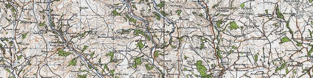 Old map of Alltycerrig in 1947