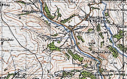 Old map of Yscirfechan in 1947