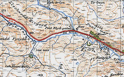 Old map of Afon Tarennig in 1947