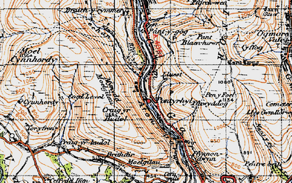 Old map of Pont-y-rhyl in 1947