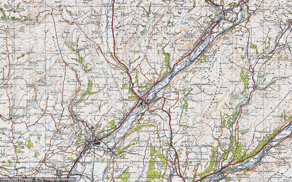 Old Map of Pontardawe, 1947 in 1947