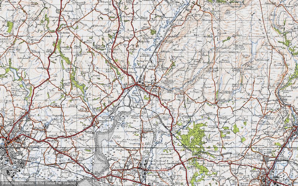 Old Map of Pontarddulais, 1947 in 1947