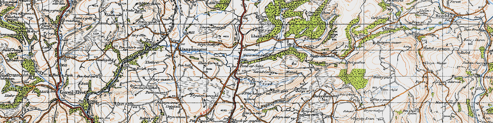Old map of Ystradcorrwg in 1946