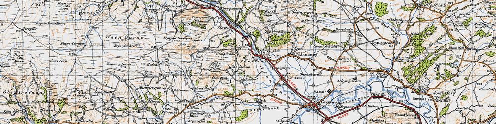 Old map of Alltwnnog in 1947