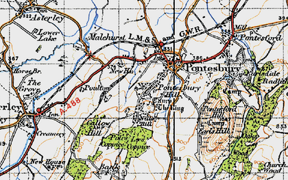 Old map of Lees Coppice in 1947