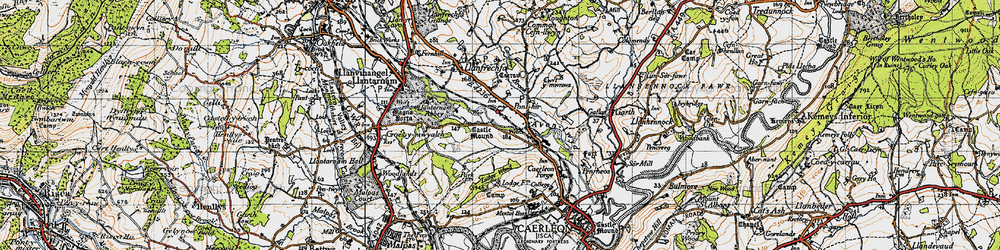 Old map of Ponthir in 1946