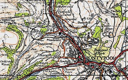 Old map of Pontnewynydd in 1947