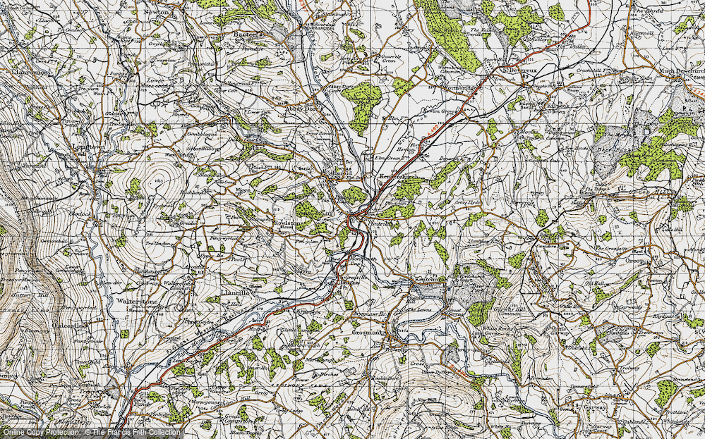 Old Map of Pontrilas, 1947 in 1947