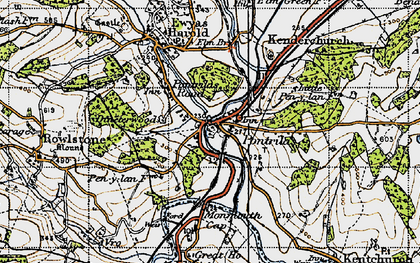 Old map of Pontrilas in 1947