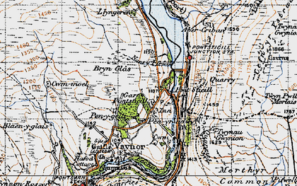 Old map of Pontsticill in 1947