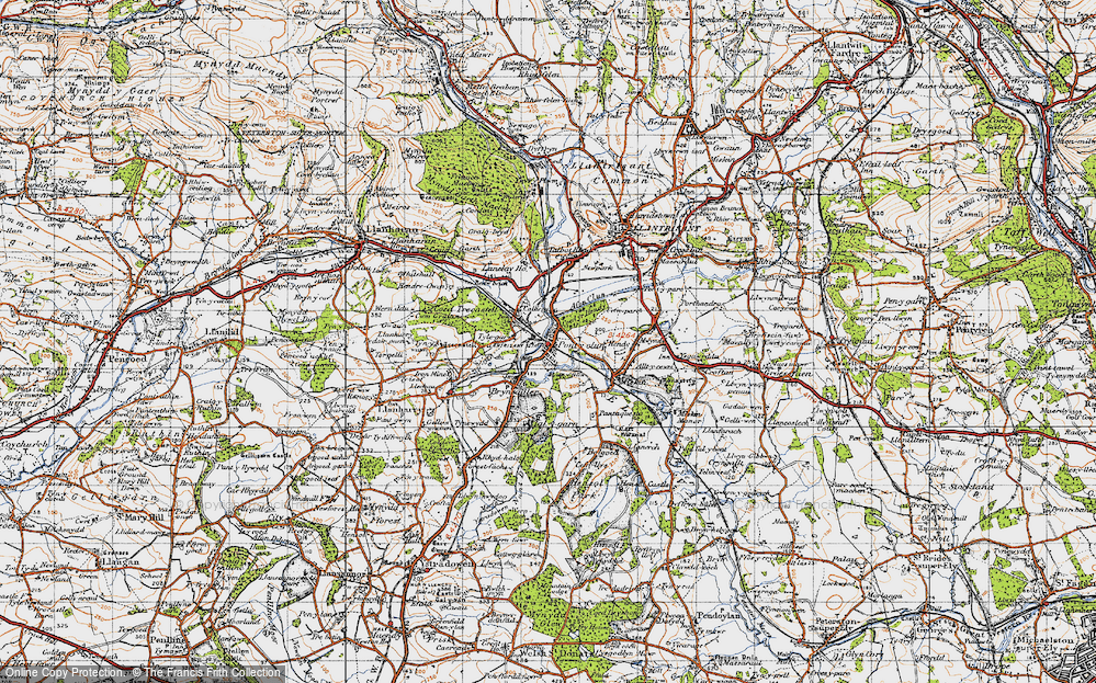 Old Map of Pontyclun, 1947 in 1947