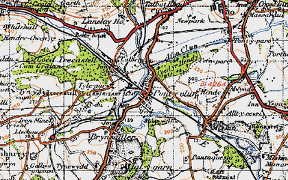 Old map of Pontyclun in 1947