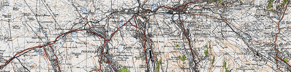 Old map of Pontygof in 1947