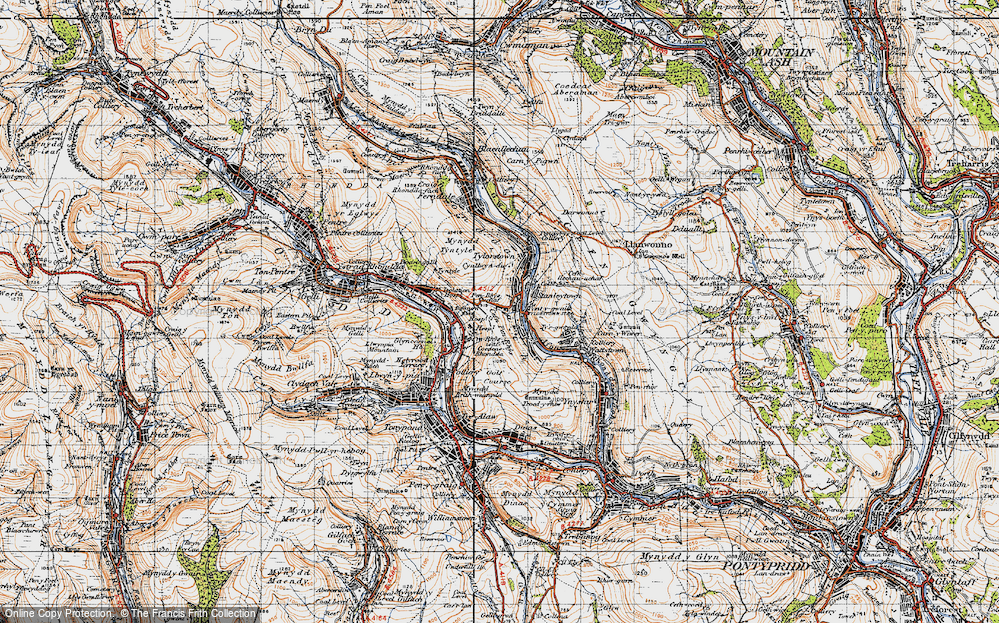 Old Map of Pontygwaith, 1947 in 1947