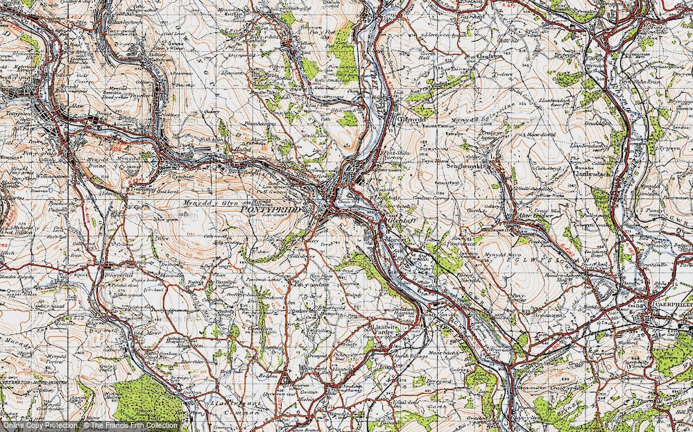 Old Map of Pontypridd, 1947 in 1947